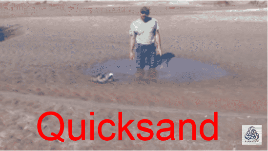 how escape quicksand in US