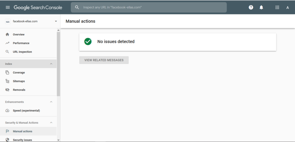 fix maual action google