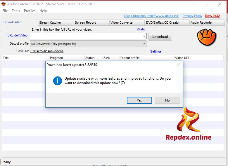 Solve aTube Catcher Error 204 repdex