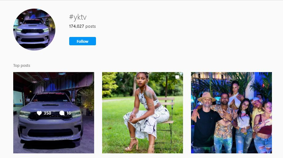 A few posts on the hashtag #yktv on IG (Instagram)